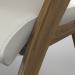 3d Modern table chair cream Modrest Lucas model buy - render