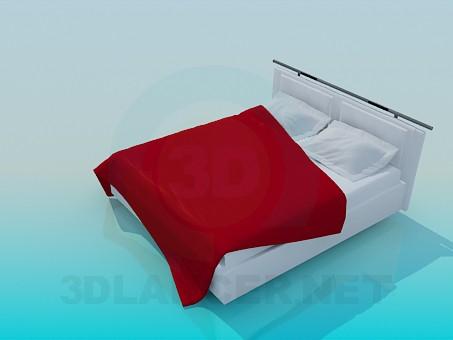 3d модель Кровать с покрывалом – превью