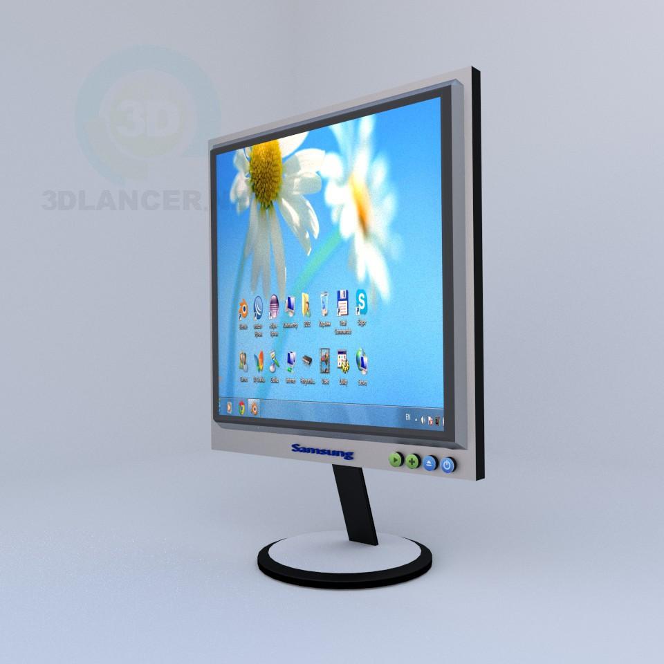 3d model monitor - vista previa