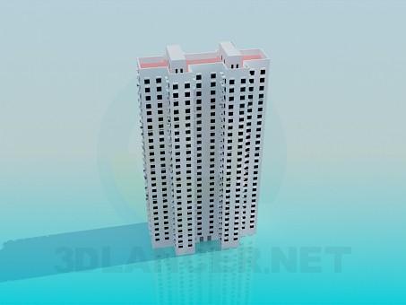 3d модель Багатоповерховий житловий будинок – превью