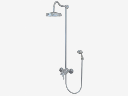 Shower column with watering can