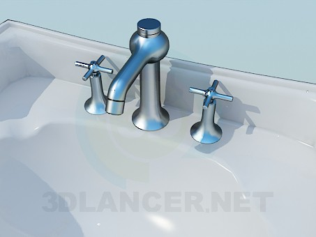 3d model Two sink with legs - preview