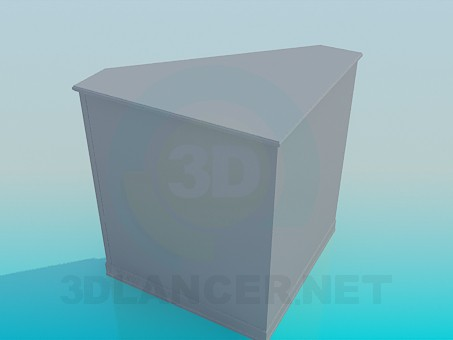 3d модель Кутова тумба підставка – превью
