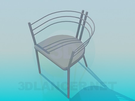 3d modeling Chair with metal headboard model free download
