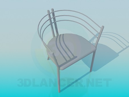 3d model Chair with metal headboard - preview