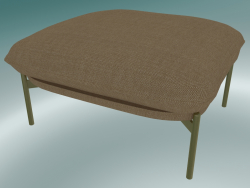 Pouffe Cloud (LN4, 78x74 H 40cm, Bronzed legs, Hot Madison 495)