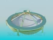Chandelier de oro de la decoración de la cúpula