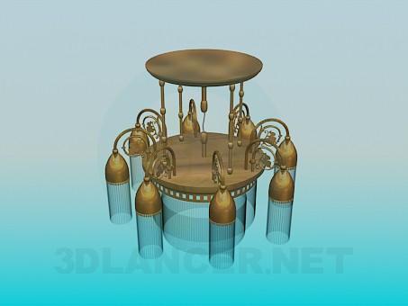 3D Modell Kronleuchter in 8 Farben - Vorschau