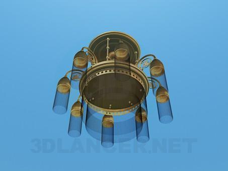 3d модель Люстра на 8 плафонов – превью