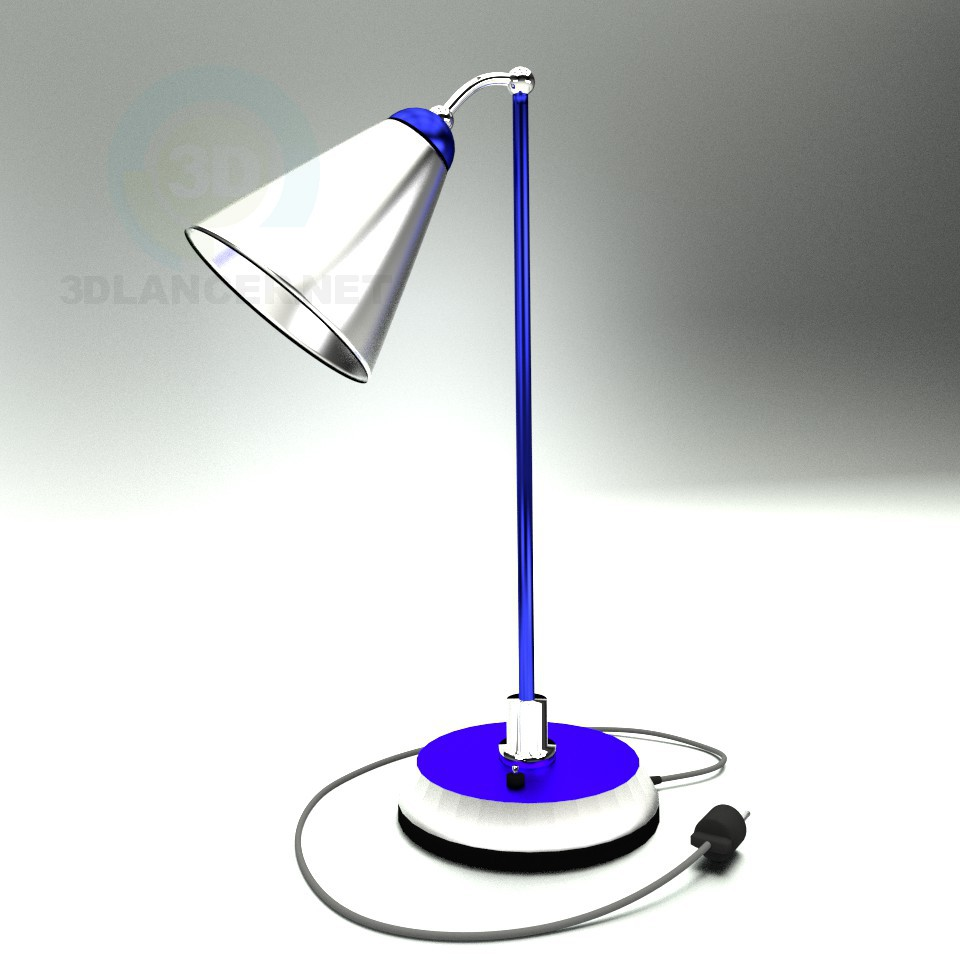 3d моделирование Настольная лампа модель скачать бесплатно