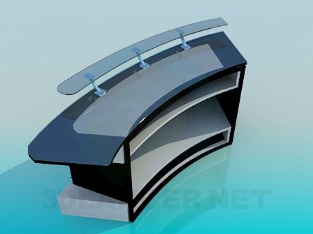 modelo 3D Recepcionista - escuchar