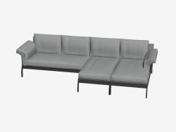 Cuádruple sofá con otomana