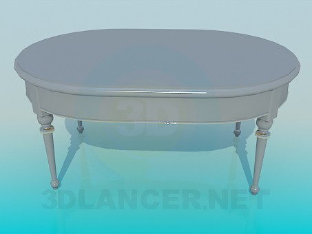 3d model Interior table - preview