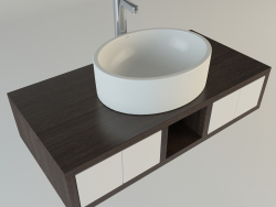 Oval washbasin