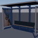 3d Bus stop Low-poly 3D model model buy - render