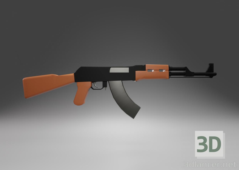 3d model AK-47 assault rifle - preview