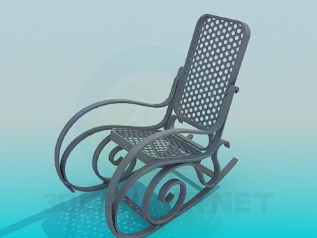3d моделирование Кресло-качалка модель скачать бесплатно