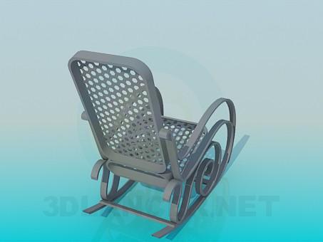 3d модель Кресло-качалка – превью