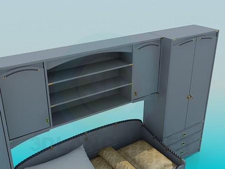 3d модель Гарнитур в спальную комнату – превью