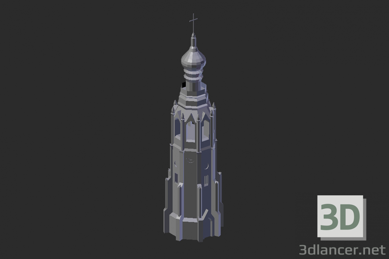 3d model Vologda. Bell tower - preview