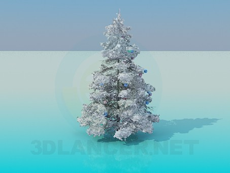 descarga gratuita de 3D modelado modelo Árbol de Navidad cubierto de nieve