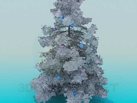 3d model Snowy Christmas Tree - preview