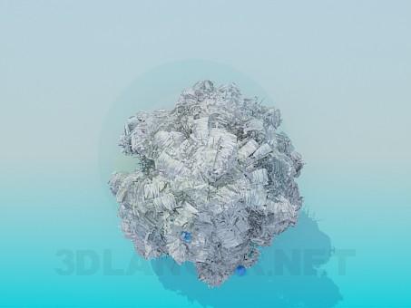 3d модель Снежная новогодняя елка – превью