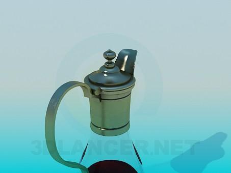 descarga gratuita de 3D modelado modelo Jarra de cristal