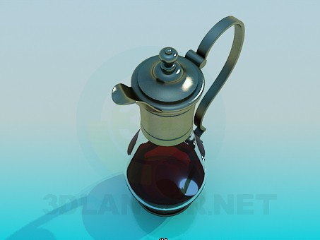 3d model Glass pitcher - preview