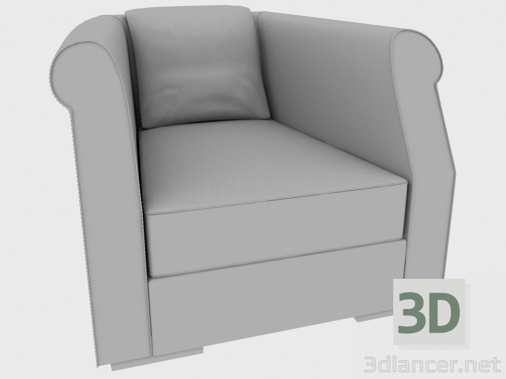 3 डी मॉडल आर्मचेयर रूबेन्स फ्री बैक आर्मीयर (88x98xH70) - पूर्वावलोकन