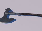 Medieval ax Low-poly 3D model