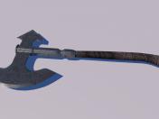 मध्यकालीन कुल्हाड़ी कम-पाली 3 डी मॉडल