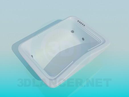 modelo 3D Tina-jacuzzi rectangular - escuchar