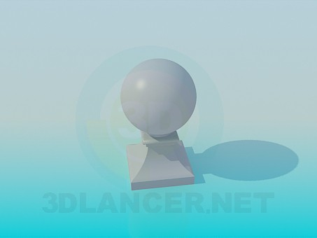 3d modeling Ball on stand model free download