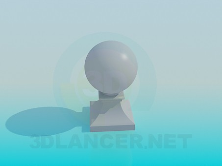 3d model Ball on stand - preview