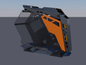 PC computer Cougar conquer Low-poly 3D model