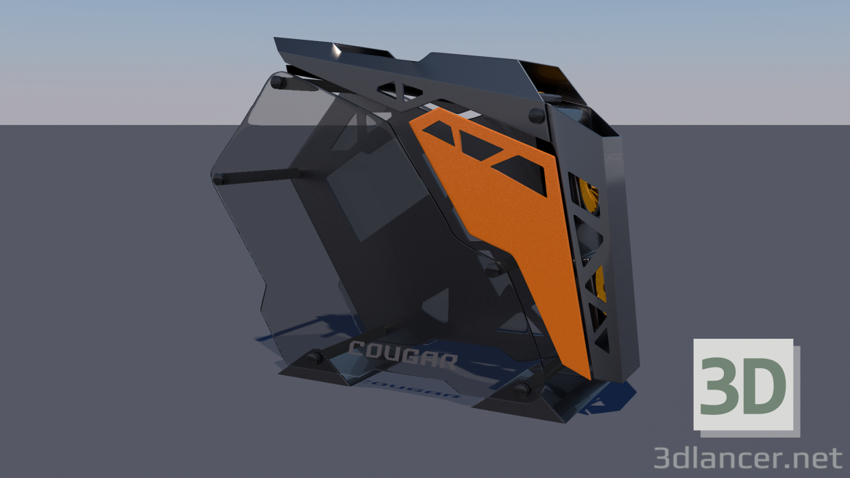 3d PC computer Cougar conquer Low-poly 3D model model buy - render
