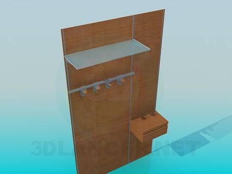 3d модель Вешалка для верхней одежды – превью