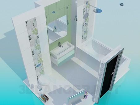 3d modeling bathroom model free download