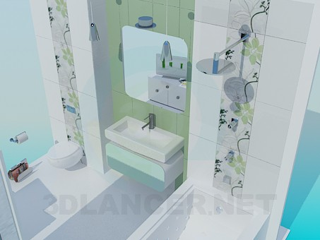 3d model Bathroom - preview