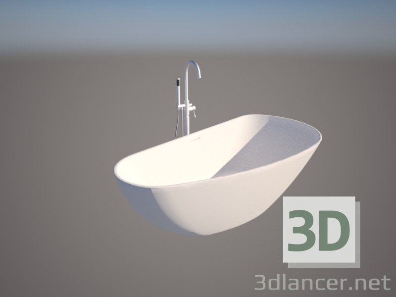 3d model modern bathtub - preview