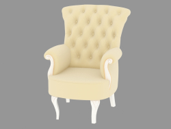 KP 400 armchair (white patinated, 69x75 H92)