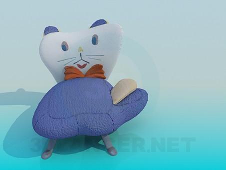 modelo 3D Silla en el vivero - gato - escuchar