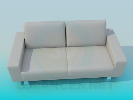 modelo 3D Sofá estilo minimalismo - escuchar