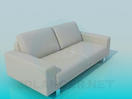 3d модель Диван в стиле минимализм – превью