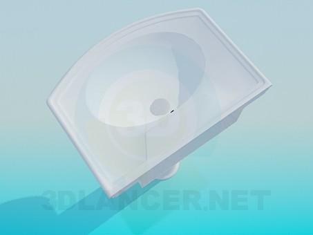 modelo 3D Lavabo en el tallo - escuchar