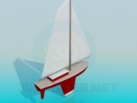 3d модель Яхта игрушечная – превью
