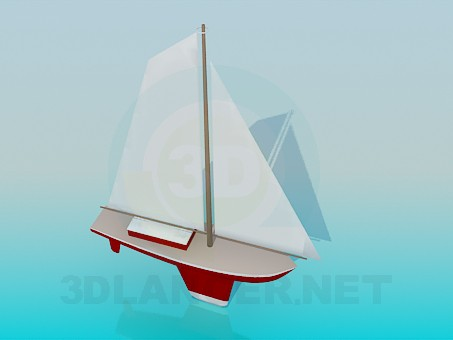 3d model Toy boat - preview