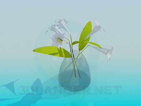 3d model Vase with Flowers - preview