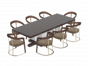 Schubert table and chairs by Longhi